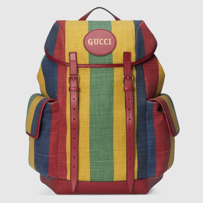 Baiadera stripe canvas backpack (6259392CSCT8946)
