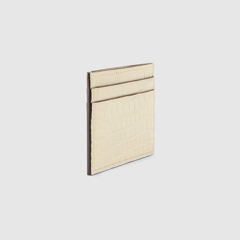 Crocodile card case (429376EZIBG9022)