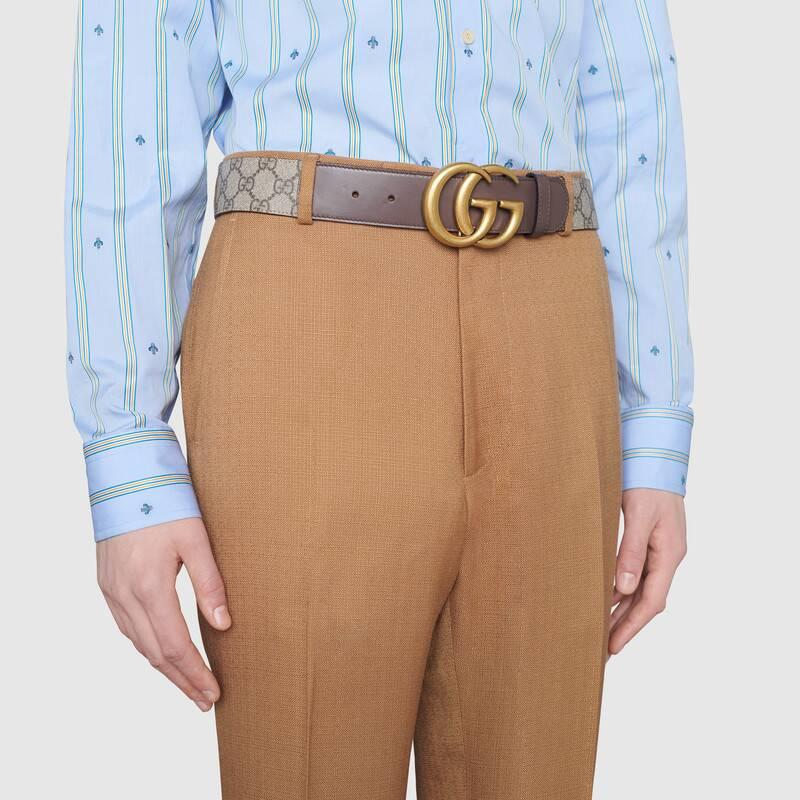 GG belt with Double G buckle (40059392TLT8358)