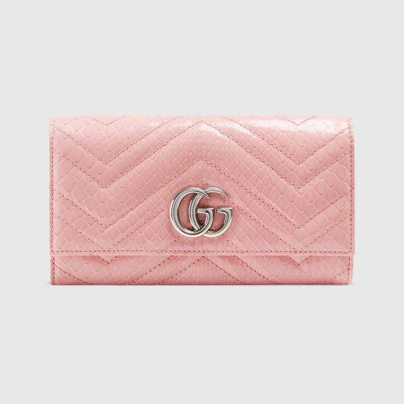 GG Marmont python continental wallet (443436L2DLP5815)