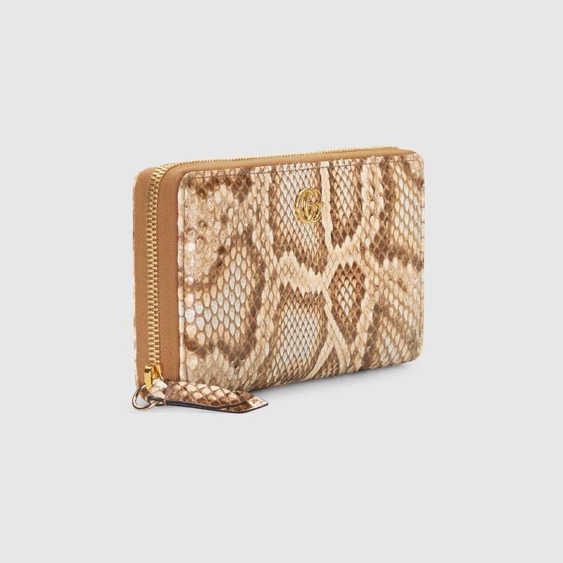 GG Marmont python zip around wallet (456117LZLIG8169)