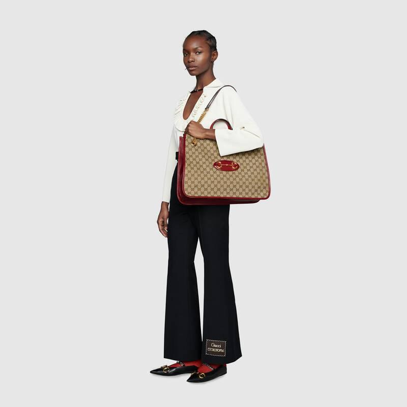 Gucci 1955 Horsebit large tote bag (623695GY5OG8561)