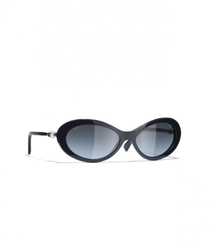 Oval Sunglasses Dark Blue eyewear (A71362X08222S621256MOCCI)