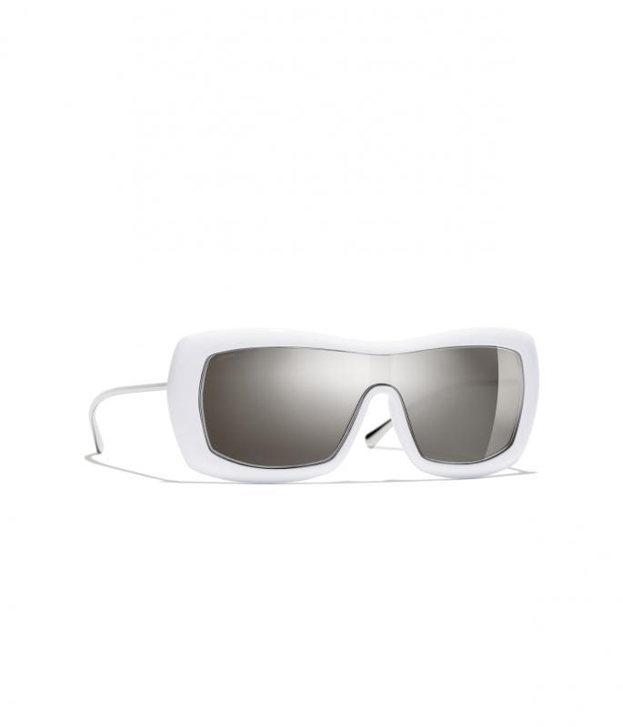 Shield Sunglasses White eyewear (A71336X06082S716200POCCI)