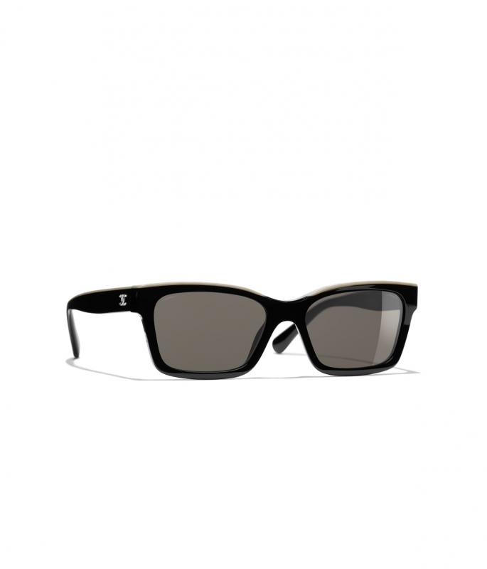 Square Sunglasses Black & Beige eyewear (A71342X08101S534354NOCCI)