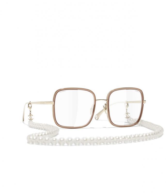 Square Sunglasses Gold & Beige eyewear (A71365X06063L291552QUNI)
