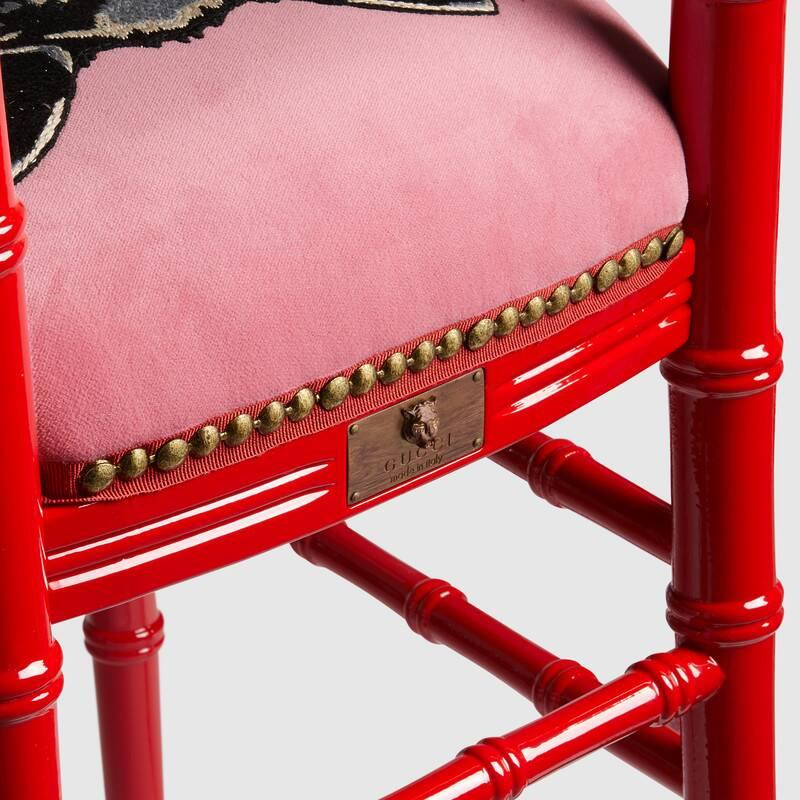 Chiavari chair with embroidered cat (482816ZAW026367)
