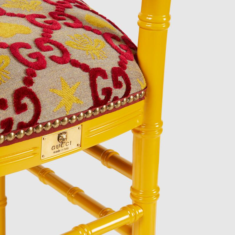 Chiavari chair with GG jacquard (482816ZAB956413)
