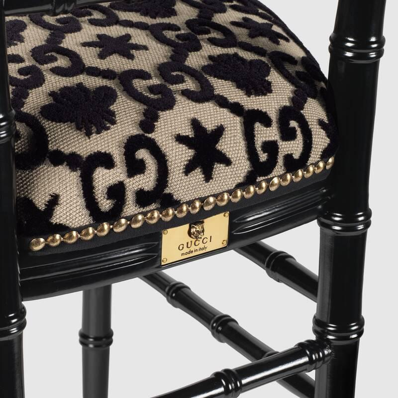 Chiavari chair with GG jacquard (482816ZAW491702)