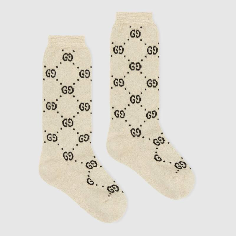Children's cotton GG lamé socks (4807154K4439260)