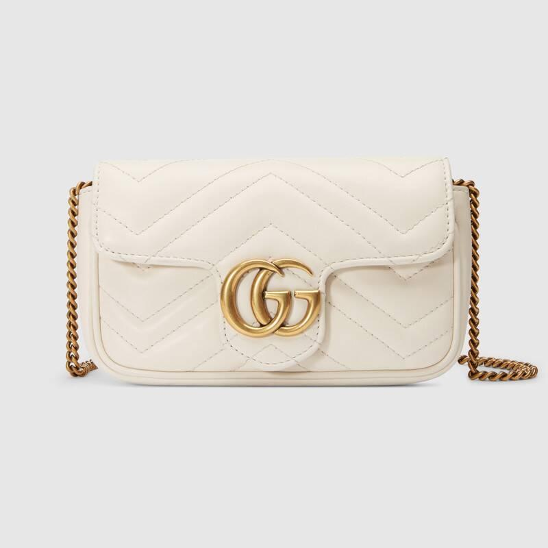 GG Marmont matelassé leather super mini bag (476433DTDCT9022)