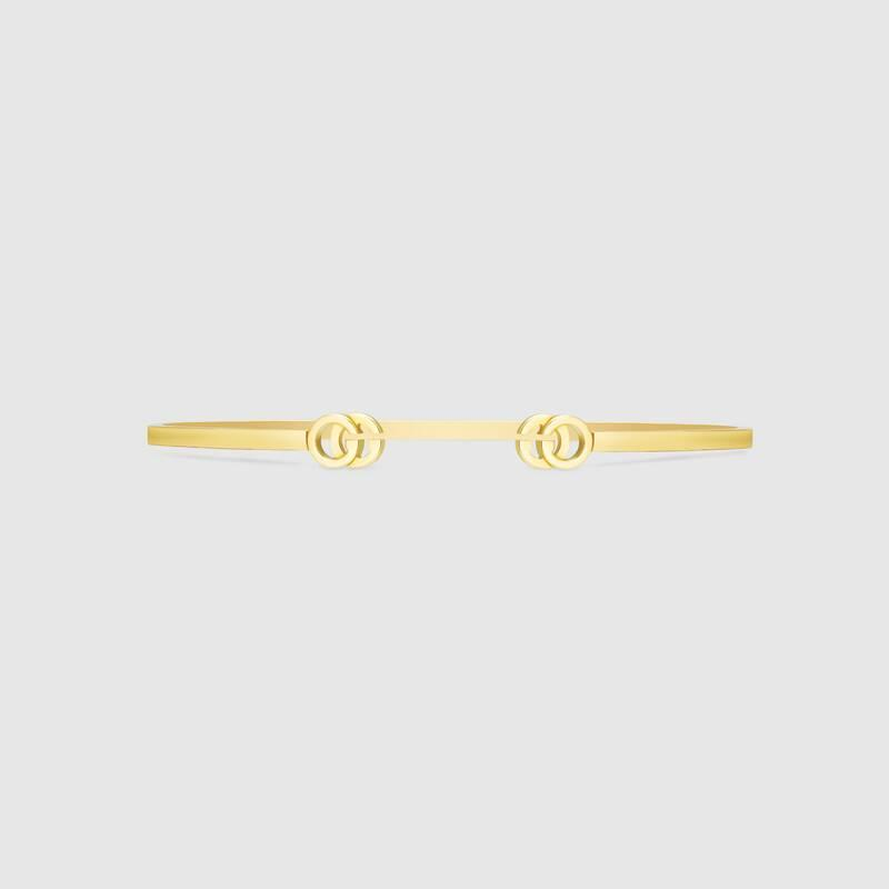 GG Running yellow gold cuff (481663J85008000)