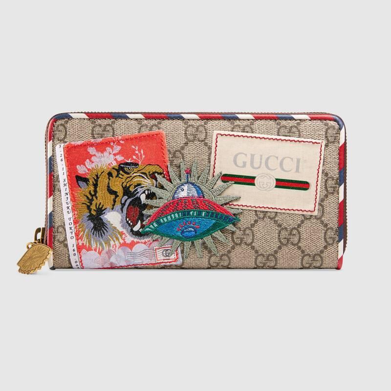 Gucci Courrier GG Supreme zip around wallet (473909K9GQT8899)