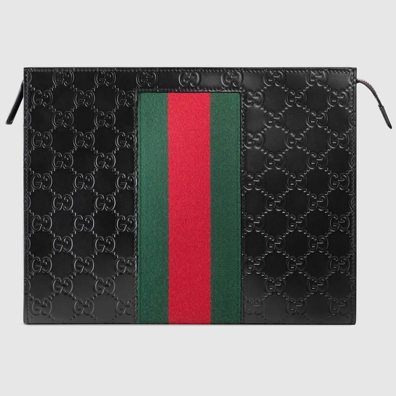 Gucci Signature Web pouch (475316CWCLN1060)