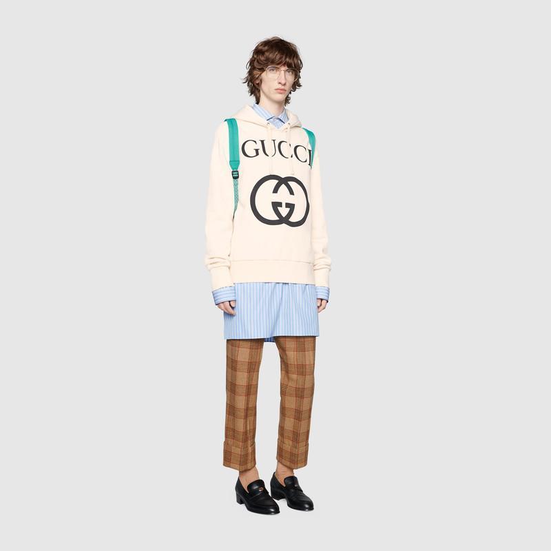 Hooded sweatshirt with InterlockingG (475374X3Q259524)
