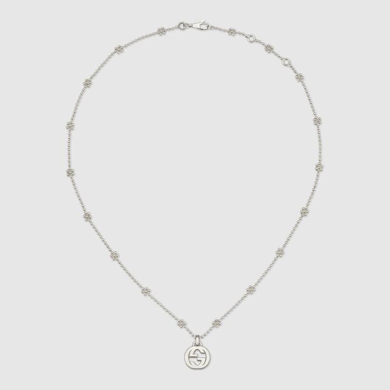 Interlocking G necklace in silver (479221J84008106)