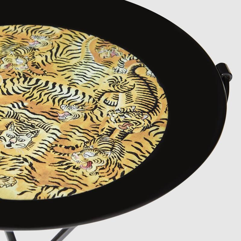 Tigers print metal folding tray (482766ZAM011082)