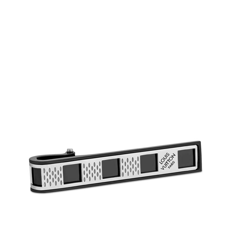 Damier Perfore Tie Clip (M64194)