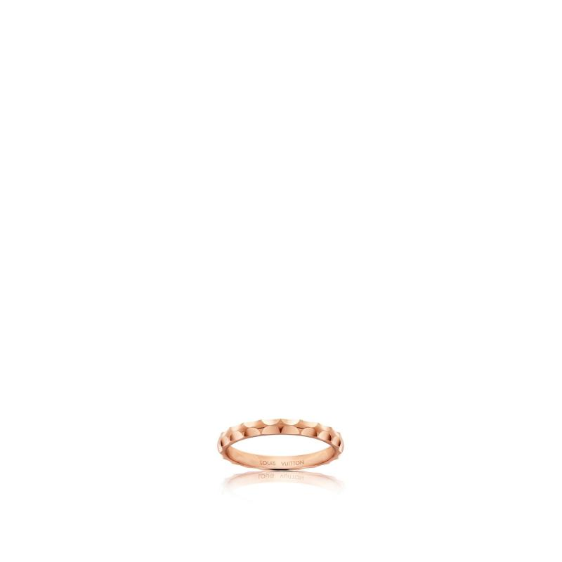 Monogram Infini wedding band, pink gold (Q9F73F)