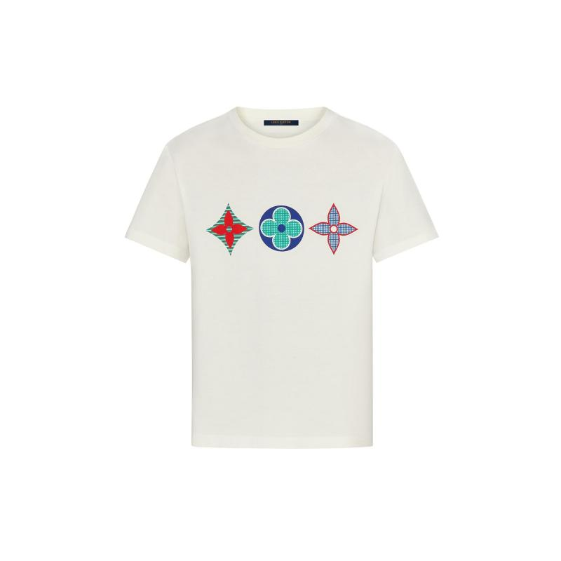 Multicolor Monogram Printed T-Shirt (1A7WIE)