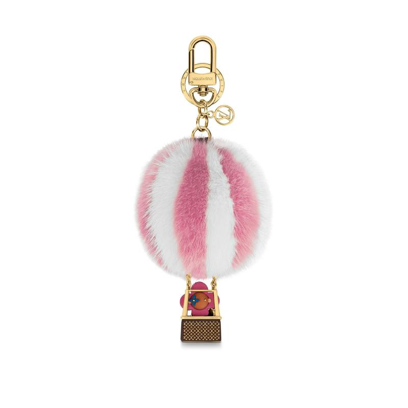 Vivienne Xmas Fur Balloon Bag Charm and Key Holder (M68655)