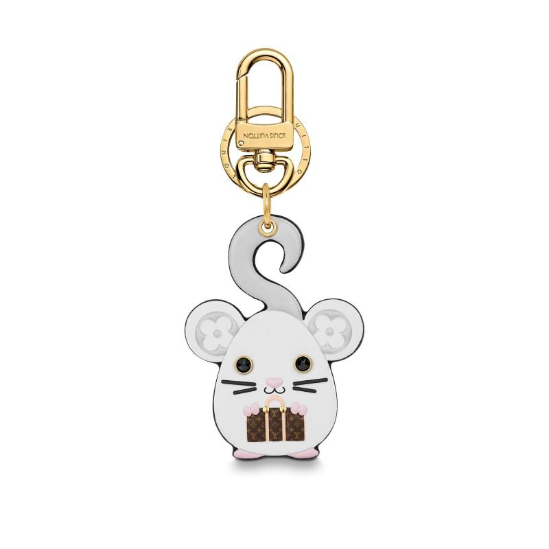 Vuittonite Rat Bag Charm and Key Holder (M69014)