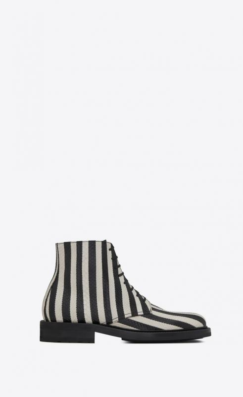ARMY Laced boots in striped elaphe (582422L0I009286)
