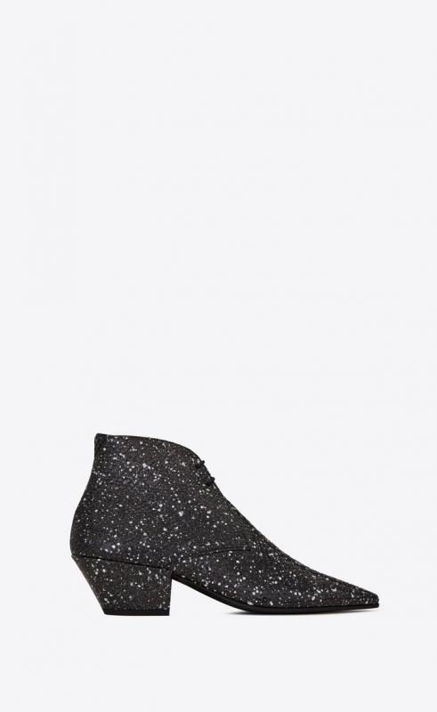 BELLE laced ankle boots in stardust python (592128L0T009122)