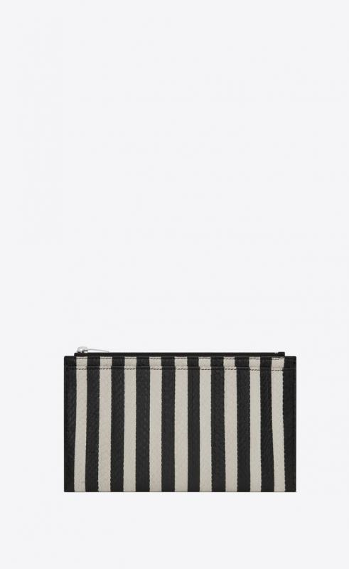 Bill pouch in striped elaphe (585820L0R0N9286)