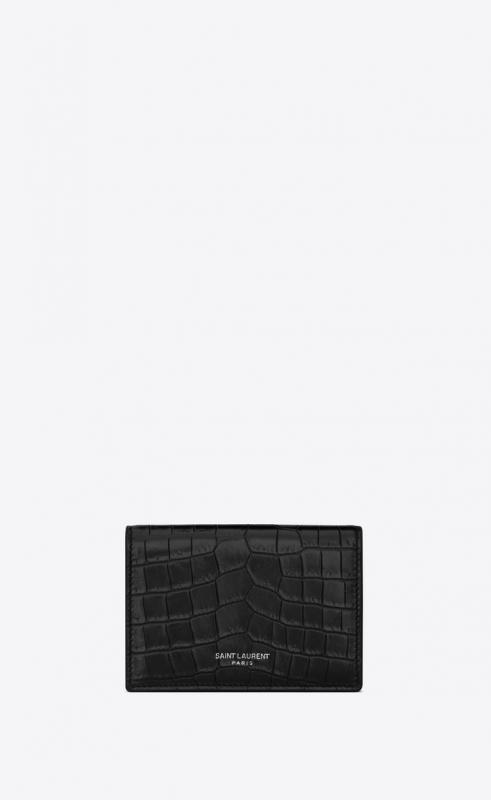 business card case in crocodile embossed leather (469338DZE4E1000)