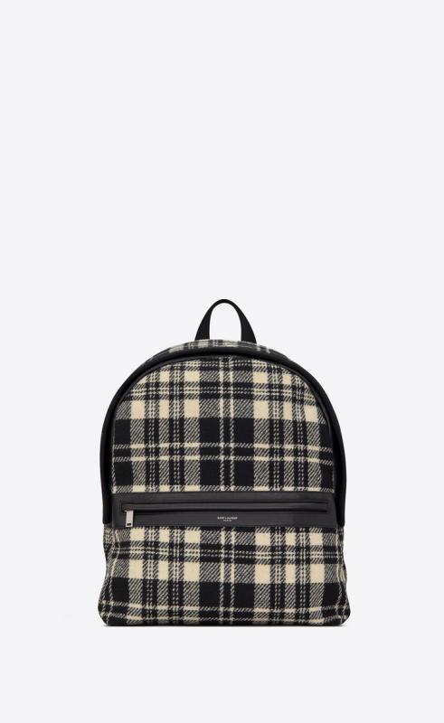 CAMP backpack in tartan and lambskin (634721GKPDE9171)