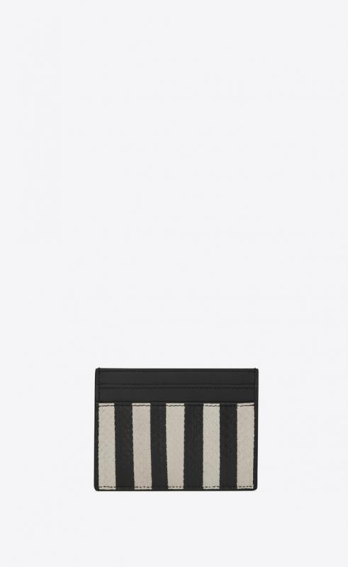 Card case in striped elaphe (370779L0R1N9286)