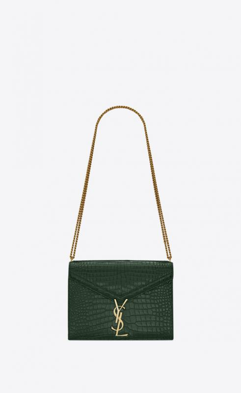 CASSANDRA monogram clasp bag in ostrich (532750L0V1W6362)