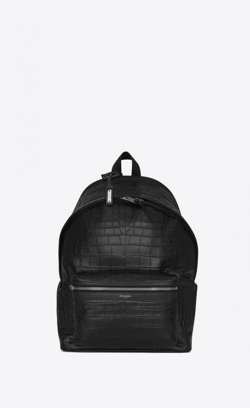 city backpack in crocodile embossed leather (465448DZE2F1000)