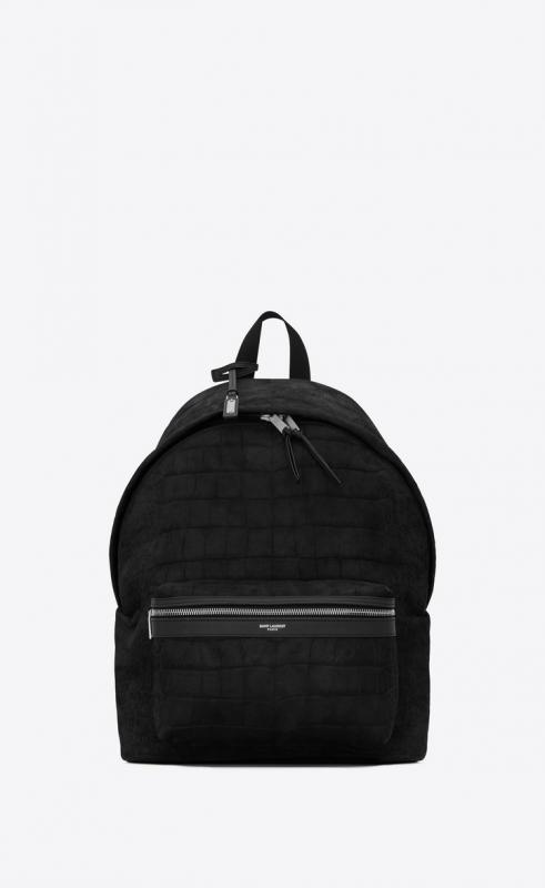 CITY backpack in crocodile-embossed nubuck (5349670TJ6F1000)