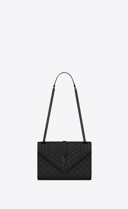 Envelope large bag in MIX MATELASSÉ grain de poudre embossed leather (487198BOW921000)
