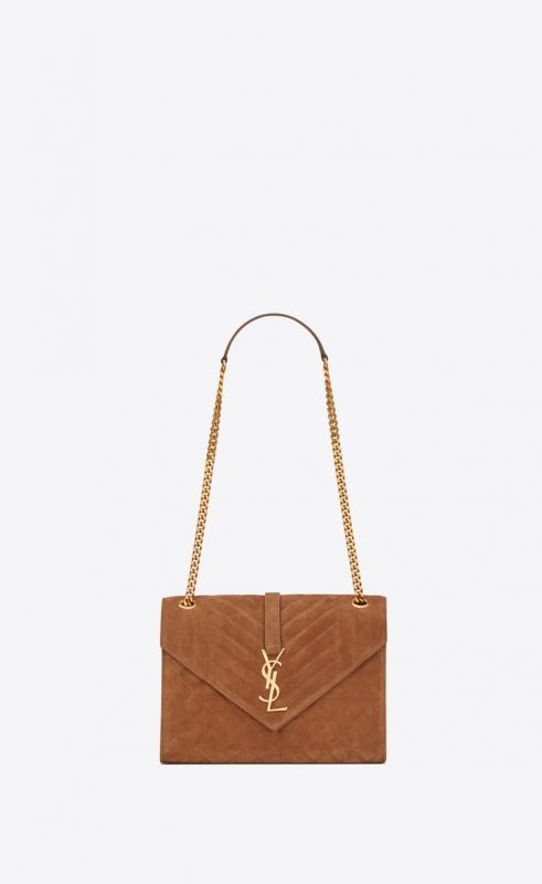 Envelope large bag in MIX MATELASSÉ grain de poudre embossed leather (487198BOW981000)
