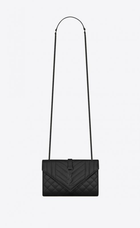 Envelope Medium bag in MIX MATELASSÉ grain de poudre embossed leather (487206BOW916475)