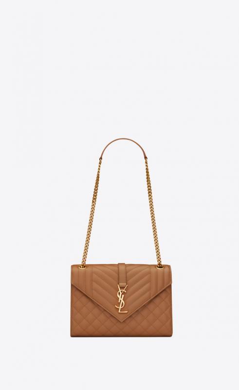 Envelope Medium bag in MIX MATELASSÉ grain de poudre embossed leather (487206BOW921000)