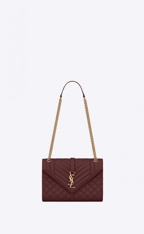 Envelope Medium bag in MIX MATELASSÉ grain de poudre embossed leather (487206BOW981000)