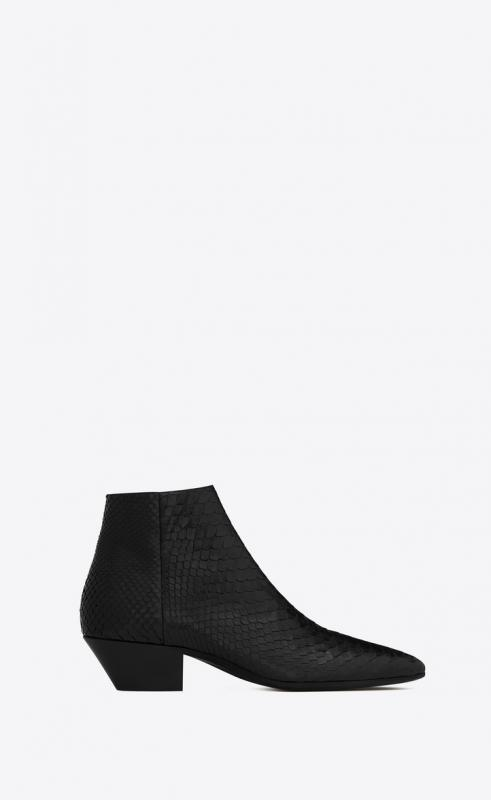 JONAS zippered boots in lacquered python (581962EM7701000)