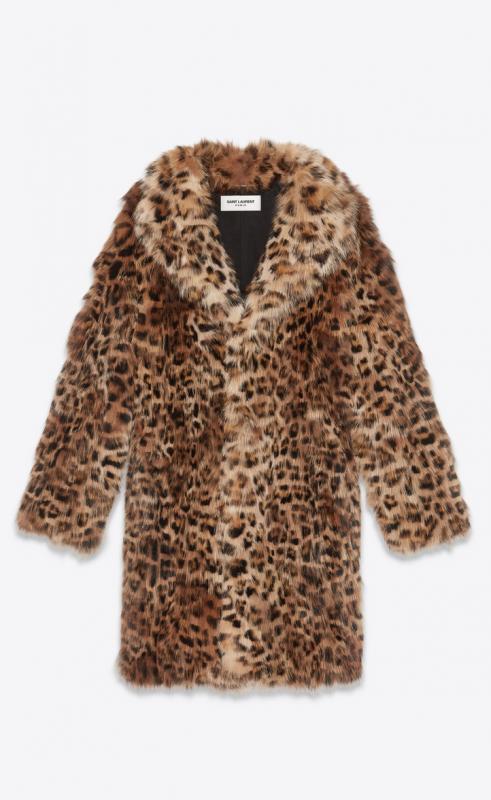 Leopard print fox fur coat (531269Y7TE22668)