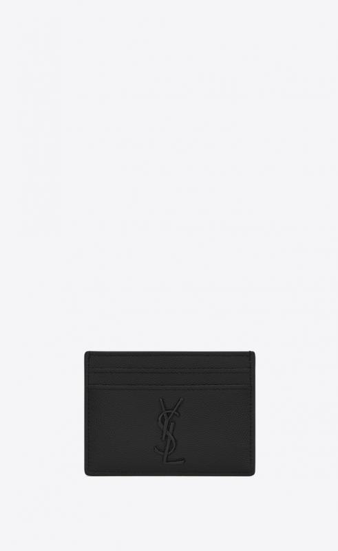 MONOGRAM card case in grain de poudre embossed leather (485631BTY0U1000)