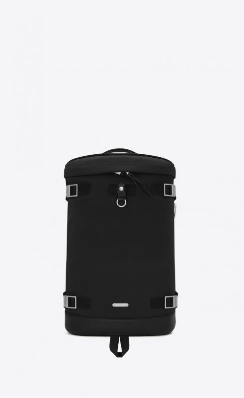 rivington race backpack in nylon canvas and leather (481005GR0MF1000)