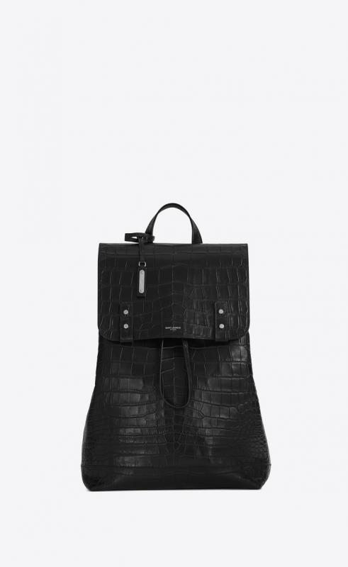sac de jour backpack in crocodile embossed leather (480585DZE0E1000)