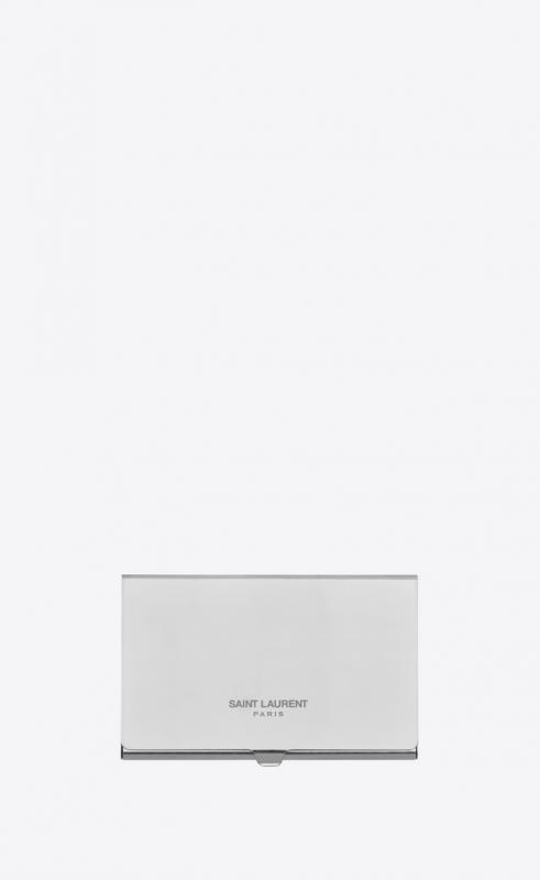 SAINT LAURENT card case in metal (635257J160N8926)