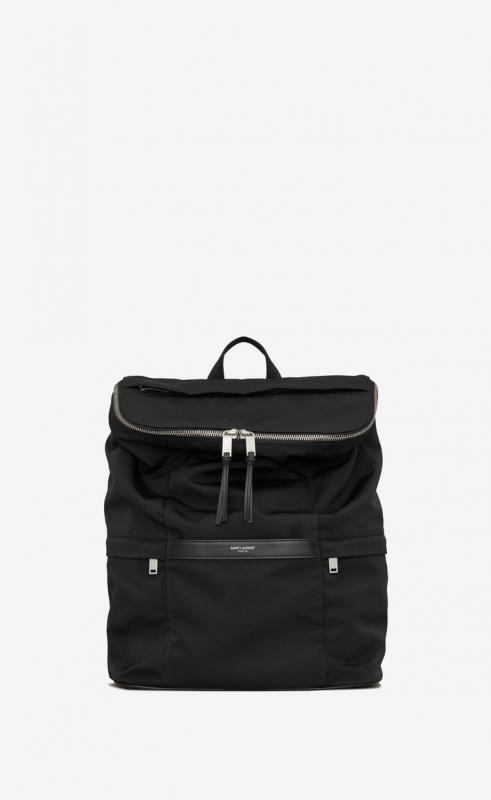 SID backpack in grooved canvas and leather (608296KJX6E1000)