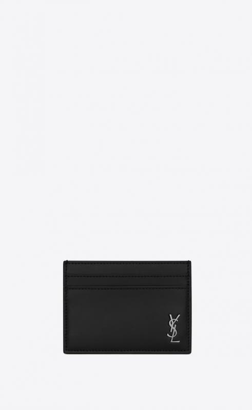 TINY MONOGRAM card case in matte leather (6076031JB0E1000)