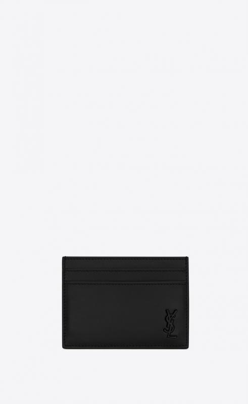TINY MONOGRAM card case in matte leather (6076031JB0U1000)