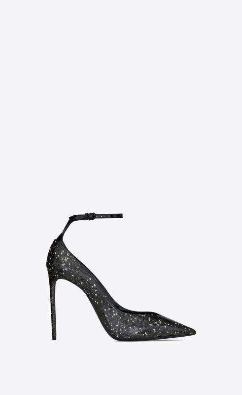 ZOE pumps in stardust python and patent leather (592387L0T109925)